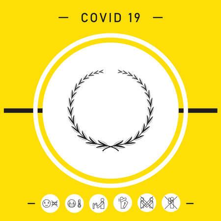 Laurel wreath, symbol. Elements for your design