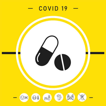 Medicines pills - Capsule and pill icon, elements for your design Vettoriali