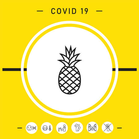 Pineapple icon. Element for your design.