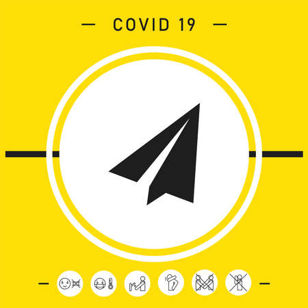 Paper airplane icon, elements for your design Vettoriali