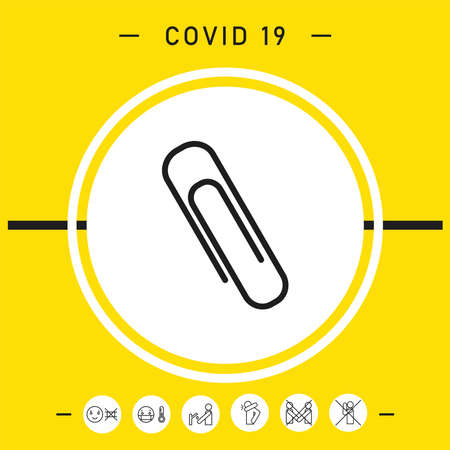 Paper clip icon, elements for your design
