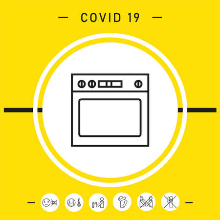 Oven linear icon, elements for your design