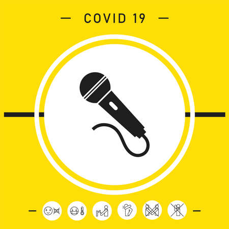 Microphone symbol icon, elements for your design