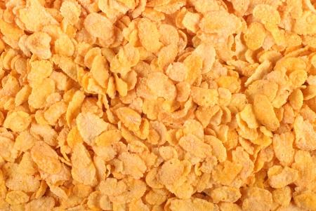 corn flakes: Flocons d'avoine. Vue de dessus