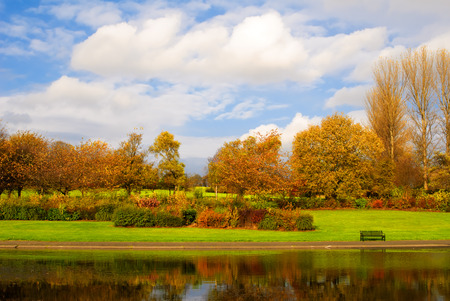 alexandra: Pond in Alexandra Park in Glasgow, Scotland Stock Photo