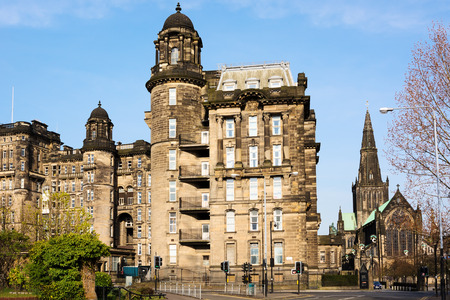 infirmary: Royal Infirmary and St Mungos Cathedral in Glasgow, Scotland