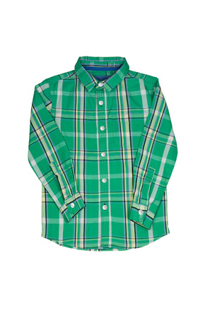 long sleeves: Long sleeves checkered shirt on white background