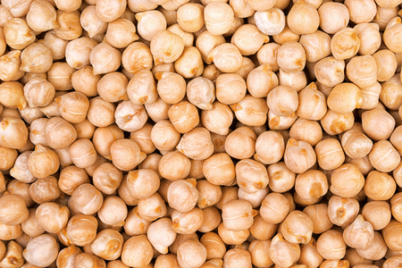 Chick peas background. View from above 写真素材