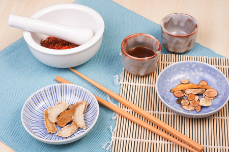 Dry medicinal plants and herbs – the concept of traditional Chinese or Asian medicine