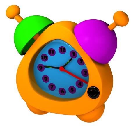 Orange alarm Stock Photo - 8502263