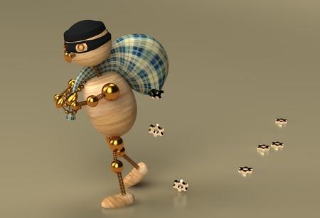 hijack: Thief wood man