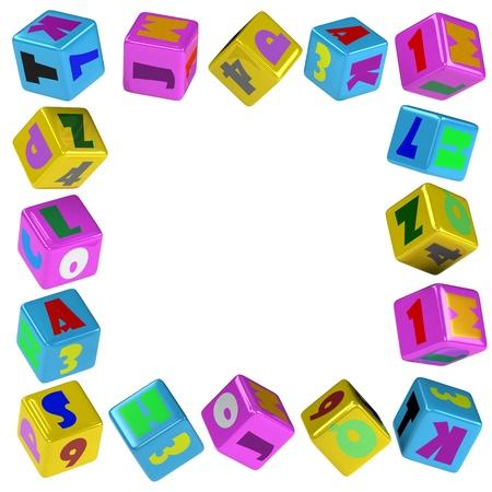 Cube frame Stock Photo - 8502274