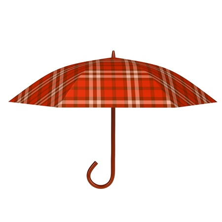 Red umbrella 3d rendered for web and commercial