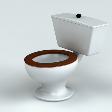 Beautiful toilet isolated on white 3d rendered photo