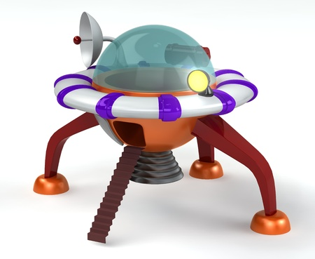 Spaceship 3d rendered for web and commercial