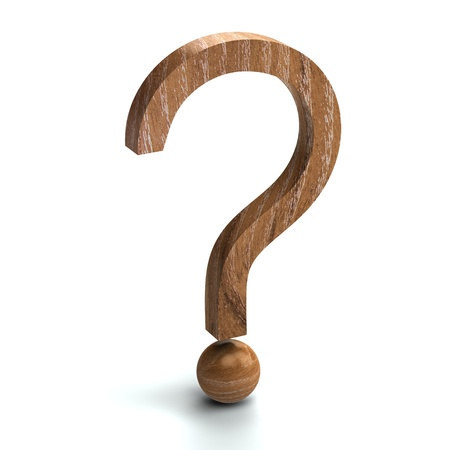 Wooden question mark 3d rendered for commercial Stock Photo - 8697277