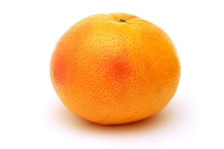 Fresh and tasty grapefruit isolated on white background photo