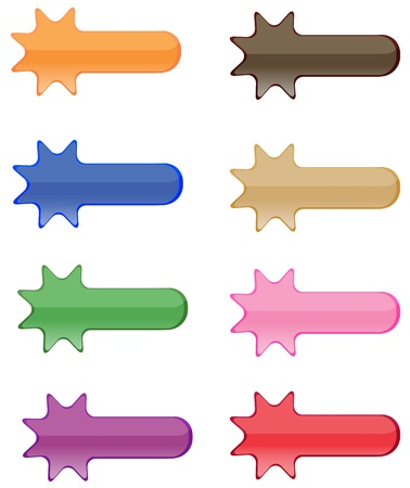 Collection of brightly colored, glossy web  elements photo