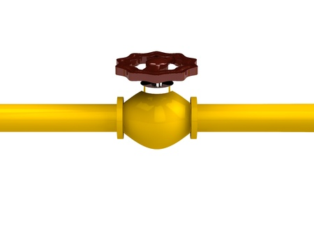 3d rendered pipeline isolated on white background Stock Photo - 9187447