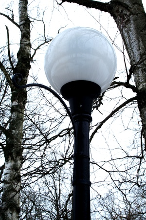 street round lamp in the park in winter Stock Photo - 9246851