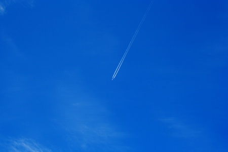Foto of plane whitch flying in clear sky photo