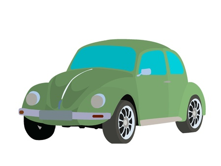 Old fashioned car vector image on white background Stock Vector - 12894993
