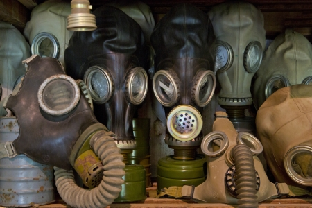 Used gas mask stored in museum as memory Stock Photo - 14557450