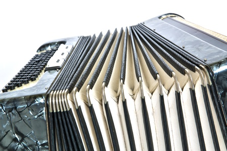 Shiny accordeon is prepeared for playing some music Stock Photo