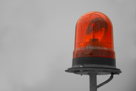 seekers: Shaded red beacon on yellow rod warning seekers