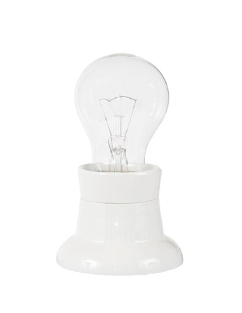 patron: electric lamp in white patron on white background