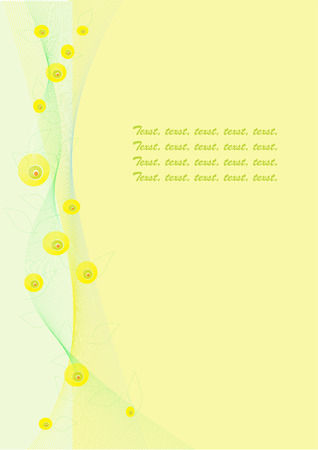 flowerses: abstract background with line, circle and text