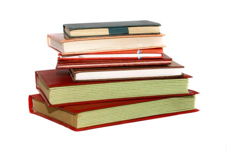 old books, rest upon white background        photo