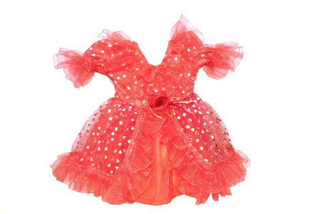 briliance: red baby gown insulated on white background Stock Photo