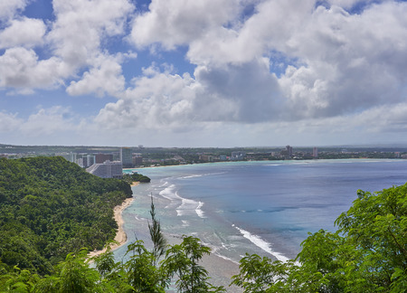 The view of Tumon Bay from the Lovers Point at Guam, USA.