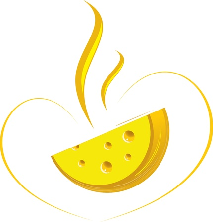 advertising logo: Flavored cheese.