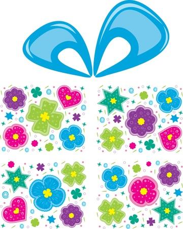 grande e piccolo: Grande regalo con fiocco blu. Vettoriali