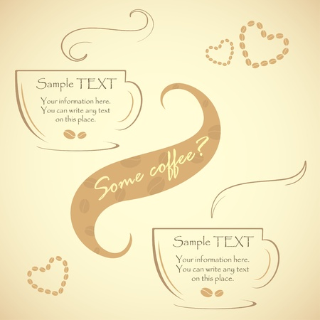 glace: Special offer for real connoisseurs coffee, vector illustration