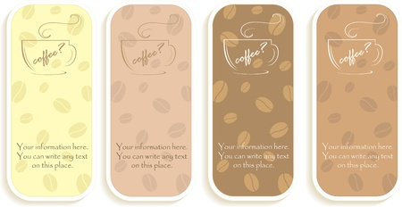 Handbills with the offer of coffee, vector illustration Vector