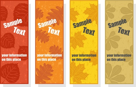 Autumn bookmarks for promotion, vector illustration Vector