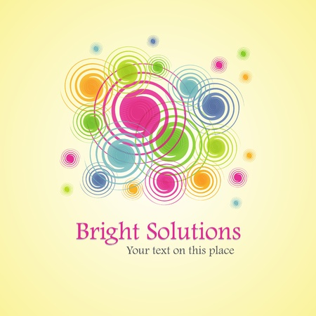 Bright solution (background from spirals) Stock Vector - 10985497