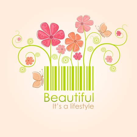 Beautiful nature style Vector