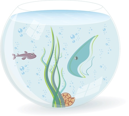 Fishbowl with fishes