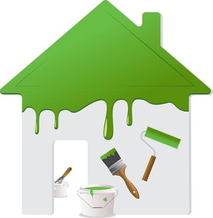 pintora: Reparaciones del hogar y las herramientas de pintura
