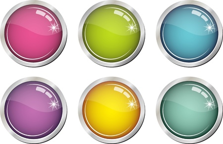Glassy color buttons