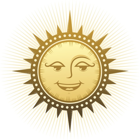 smiling sun: Ethnic laughing sun