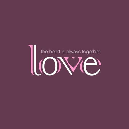 A love vector calligraphy isolated on plain background.