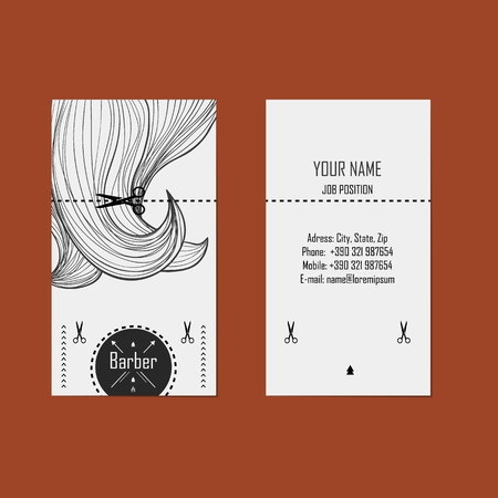 light brown hair: alternative design business cards for hairdresser  barber