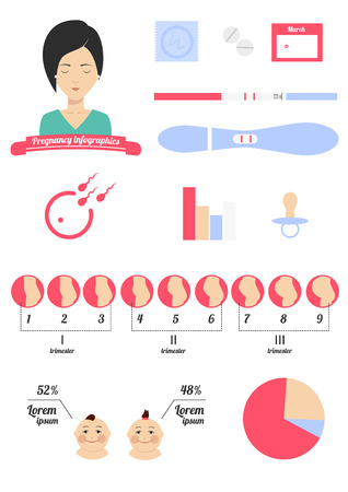 Infographics with icons in the style of minimalism  Vector