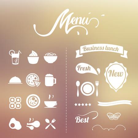 design elements for the summer menu  Vector