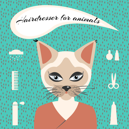 cilia: Hairdresser for animals set ikons